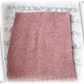 Perłoworóżowy szalik supełkowa włóczka