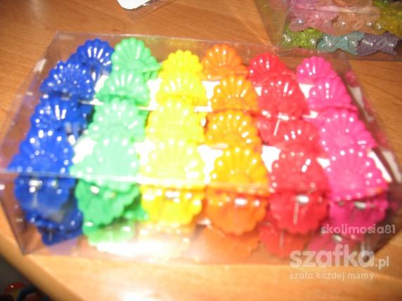 spinki żabki kwiatuszki w 6 kolorach