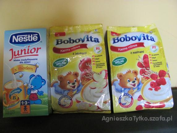 Zestaw 2 kaszki Bobovita i mleko Nan Junior