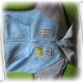 Szaro niebieska fajna bluza z kapturem