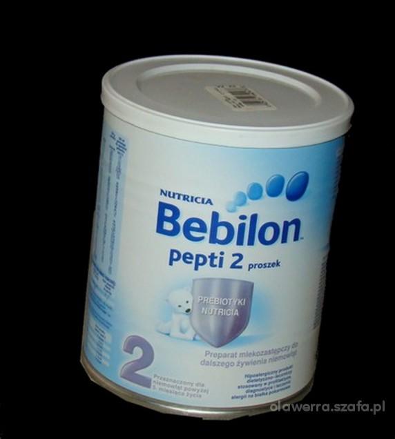 2 puszki mleka bebilon pepti 2