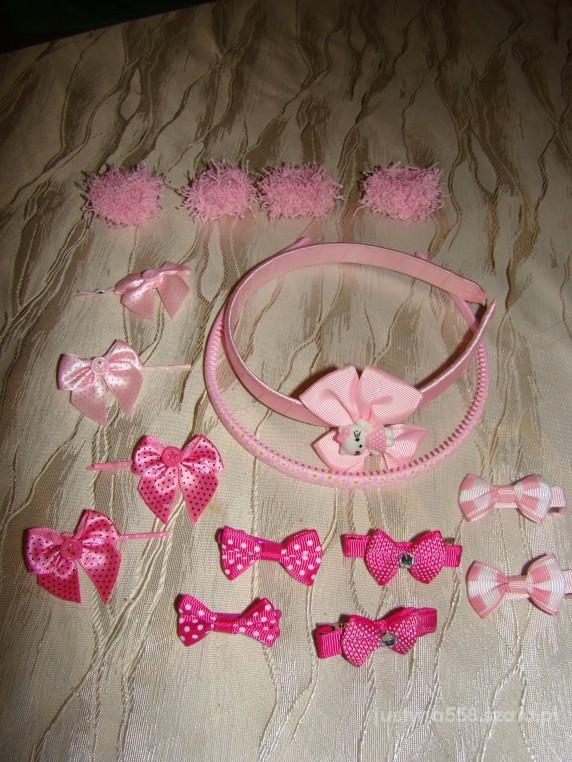 Zestaw różowy do włosów