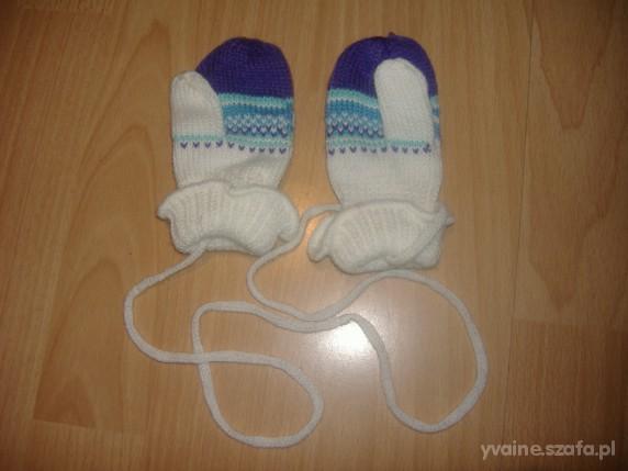 ładne rękawiczki z palcem i na sznureczku od 6 m