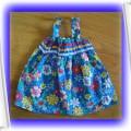 Sukienka w kwiatki dla maluszka 3 6 mies