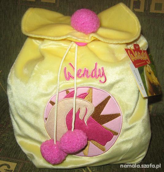 Plecaczek żółty pluszowy dla dziewczynki NOWY