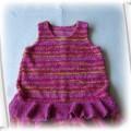 Różowa ciepła sukienka rozm 104