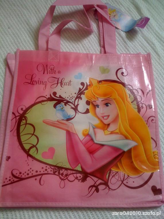 Torba torebka worek Disney Spiaca Krolewna