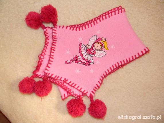 Różowy szalik 107 cm