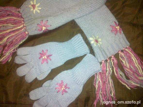 Kpl szalik i rękawiczki
