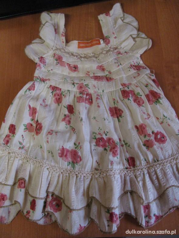 2eaa0e4c3f Sukienka jasna w kwiaty dla dziewczynki falbanki w Sukienki i ...