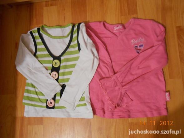 dwie bluzeczki na 104cm
