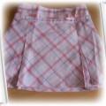 sliczna plisowana spódniczka w krateczke 98cm