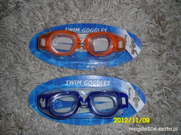 Okularki pływackie nowe kolory różne