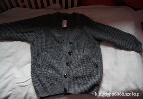 NOWY Wełniany sweter h&m szary rozmiar XL