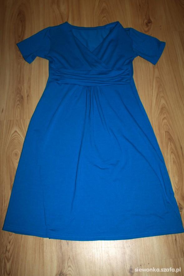 Sukienka ciążowa 40 42 ciemna morska