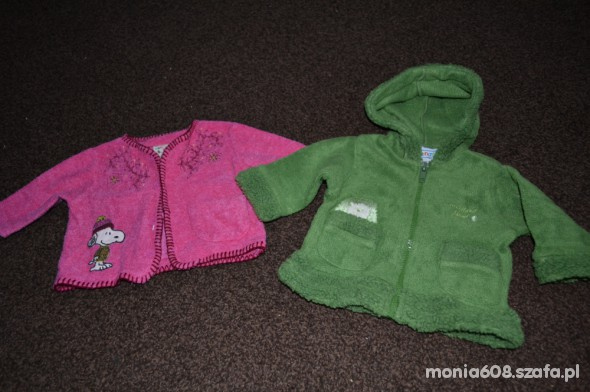 Bluza i sweterek dla dziewczynki rozm 0 do 3 msc