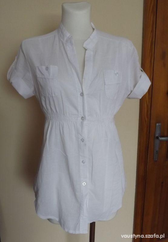 Biała koszulowa tunika