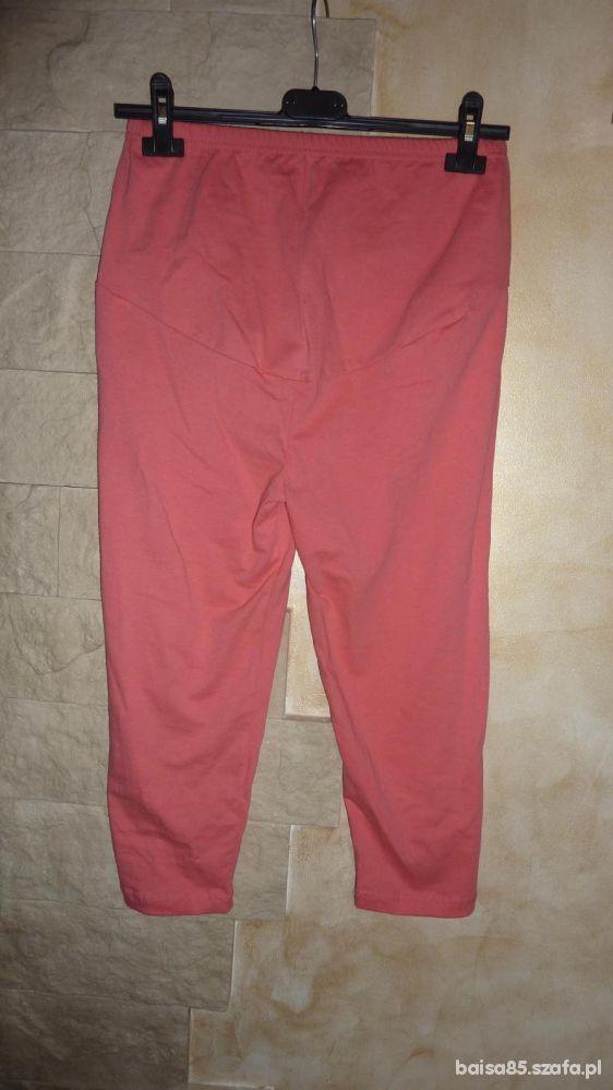 CIĄŻOWE3 4 BEZUCISKOWE legginsy panel spodnie M
