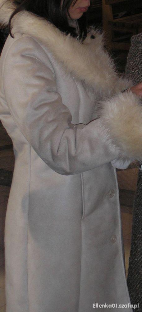 Sztuczny kożuszek beżowy M