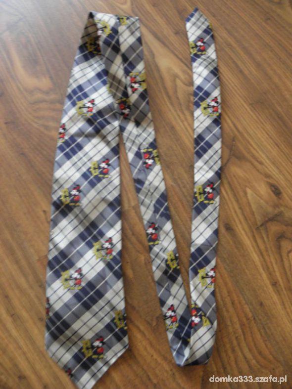 krawat myszka miki kratka
