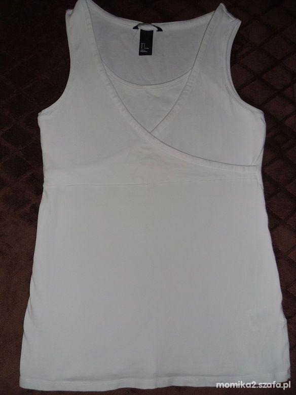 Top biały dla karmiącej mamy H&M Rozmiar S