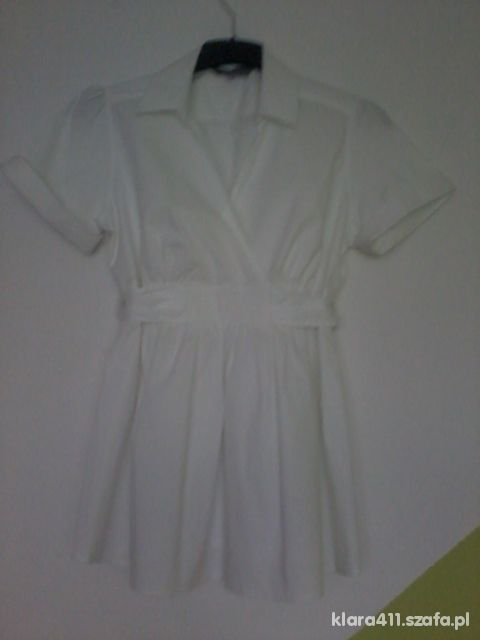 Biała bluzka ciążowa