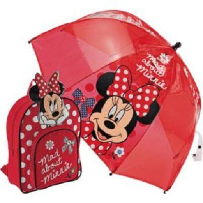 MINNIE MOUSE zestaw plecak i parasol