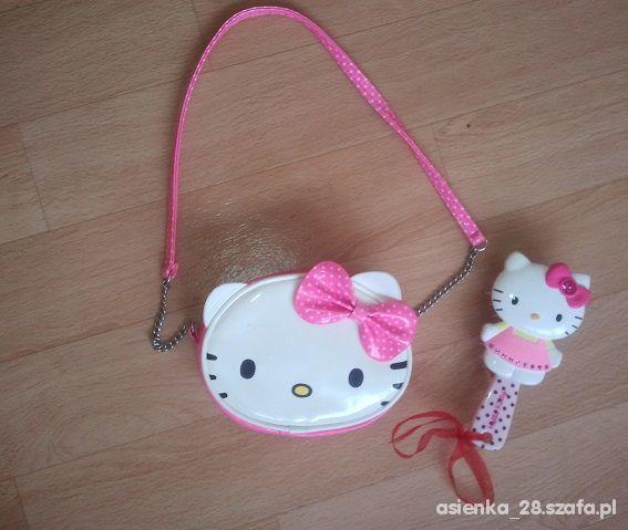 Hello Kitty torebeczka i szczotka do włosów