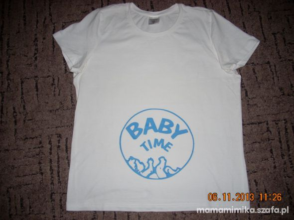 Tshirt biały z dzidzią roz M