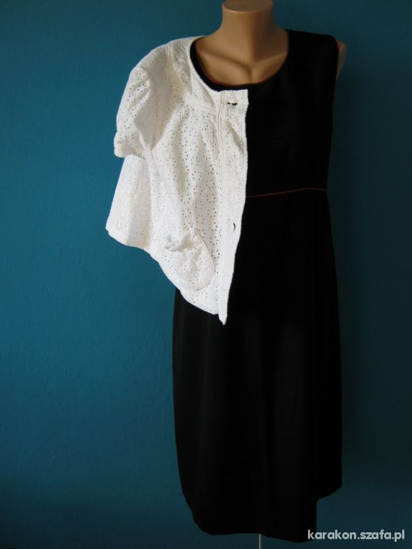 sukienka plus narzutka
