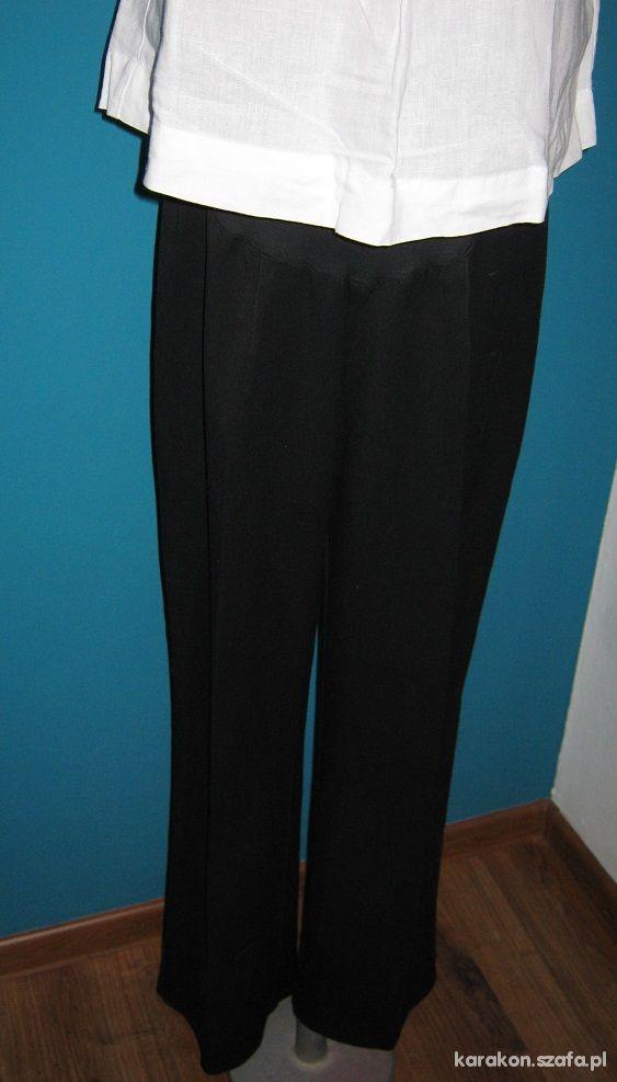 spodnie ciążowe czarne kantka eleganckie