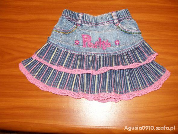 0220a8c1f9 Dżinsowa spódniczka z falbankami i koronkami w Sukienki i spódniczki ...