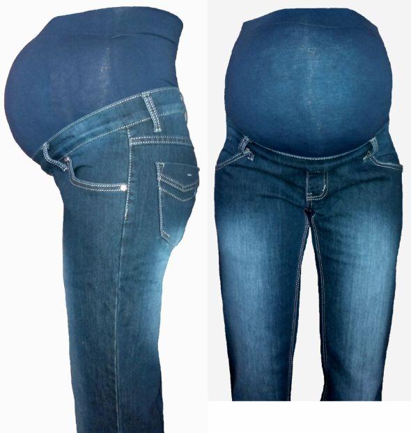 Granatowe klasyczne jeansy ciążowe r S do XXL