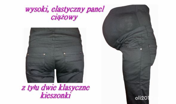Dopasowane spodnie ciążowe z panelem na brzuch