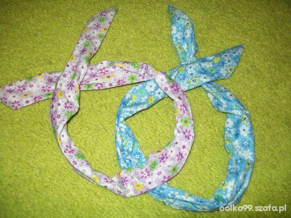 opaski PIN UP w kwiatuszki DIY