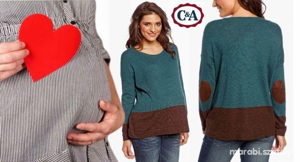 NOWY Ciążowy cienki sweterek nietoperz 40 42