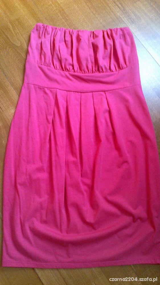 różowa bawełniana sukienka rozmiar s