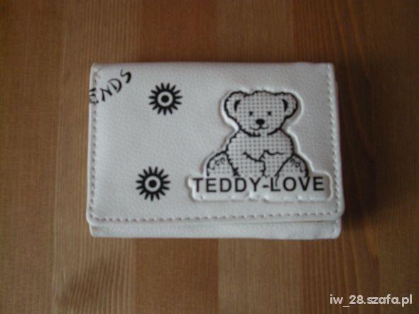 Portfel dziewczęcy biały TEDDY LOVE