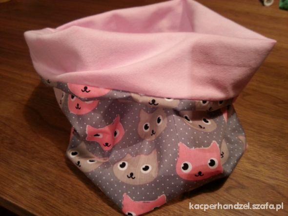 kotki szaro rozowe komin