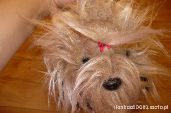 torebka pies pekińczyk jak NOWA na drobiazgi