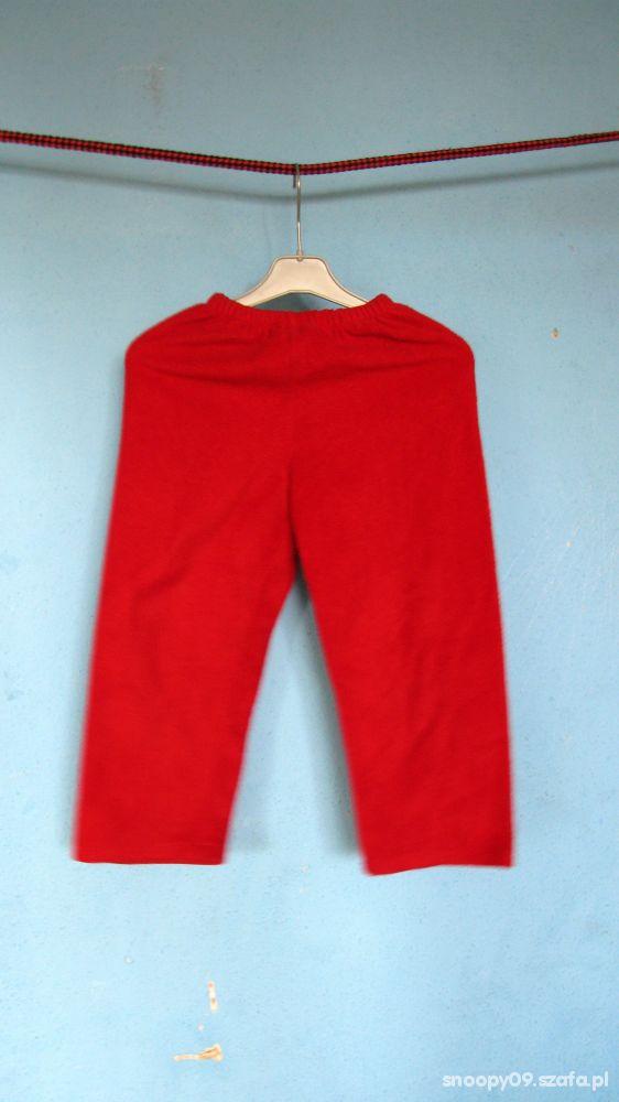 Spodnie dresowe polarowe ciepłe jesień zima