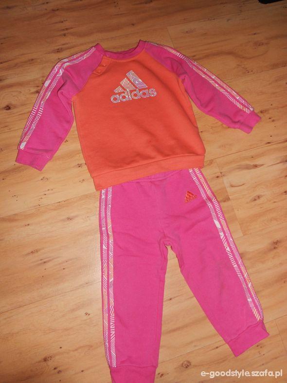 Dres Adidas spodnie bluza 86 92 cm
