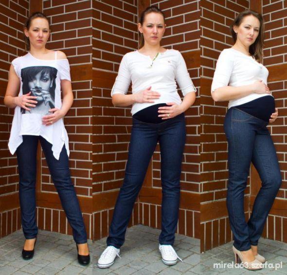 nowe spodnie rurki ciążowe 48