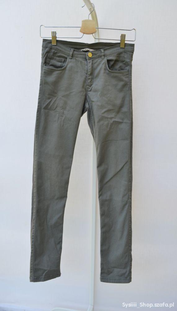 Spodnie Khaki H&M 158 cm 12 13 Lat Rurki Zielone