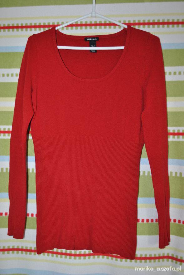 Sweter ciążowy HM 38 M czerwony