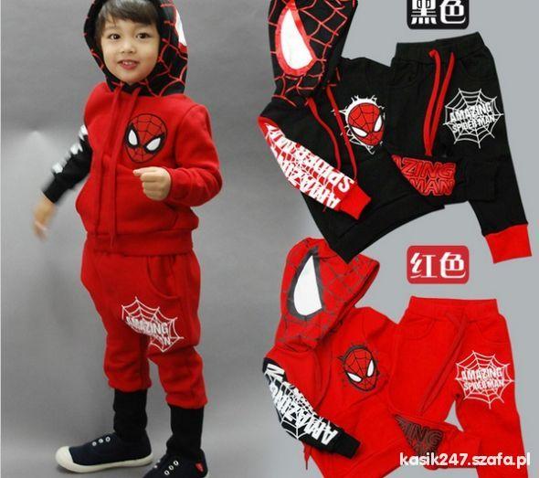 nowe dresy spidermann od 2 do 6 lat