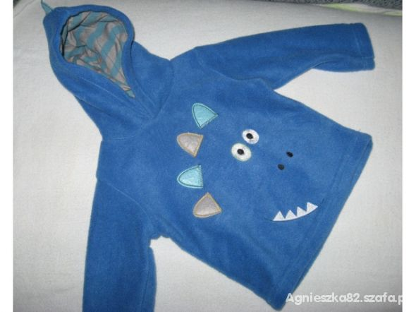 Niebieski polarowy dres r 68