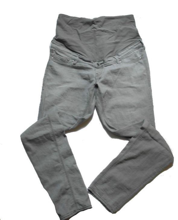 Spodnie ciążowe ciemny popiel 38