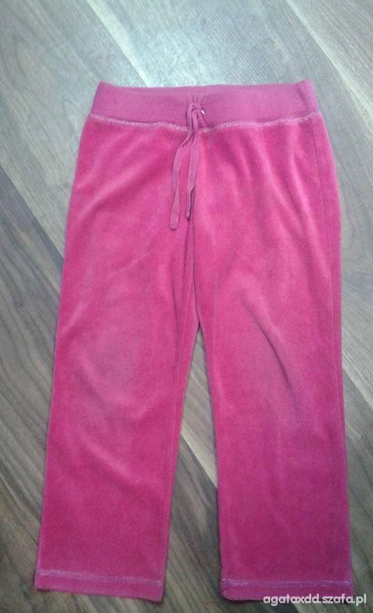 Spodnie różowe dresowe