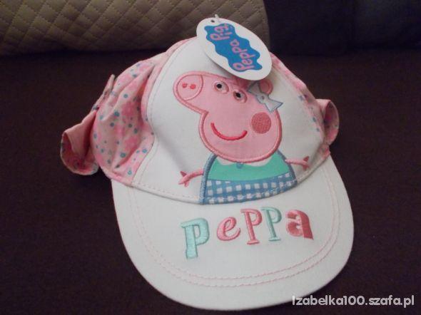 Wywijana czapeczka dla dziewczynki świnka peppa